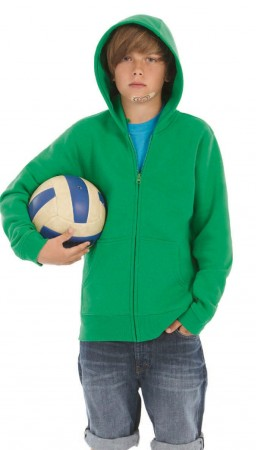 B&C: Kids` Hooded Full Zip WK682 – Bild 1