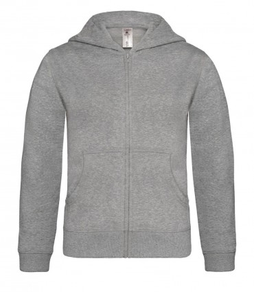 B&C: Kids` Hooded Full Zip WK682 – Bild 3