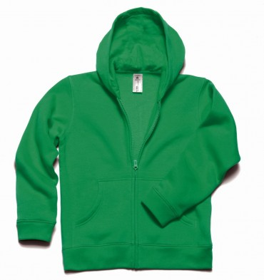 B&C: Kids` Hooded Full Zip WK682 – Bild 7