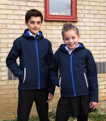 Result: Kids TX Performance Hooded Softshell Jacket R224J/Y – Bild 1