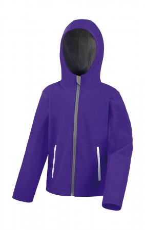 Result: Kids TX Performance Hooded Softshell Jacket R224J/Y – Bild 4