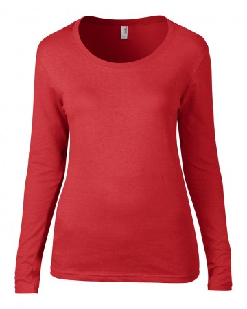 Anvil: Ladies Sheer LS Scoop Tee 399 – Bild 5