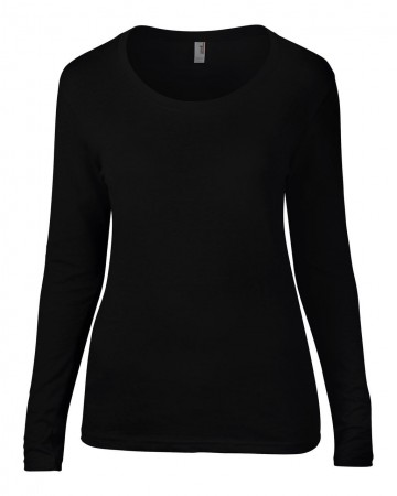 Anvil: Ladies Sheer LS Scoop Tee 399 – Bild 3