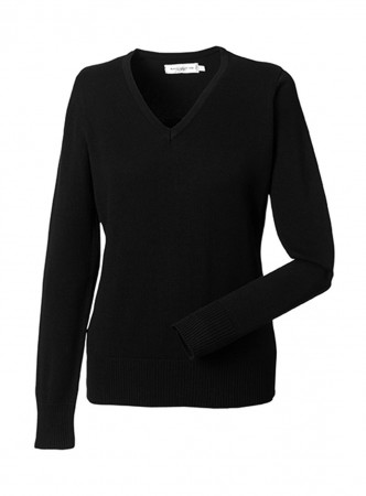 Russell Europe: Ladies` V-Neck Knitted Pullover R-710F-0 – Bild 2