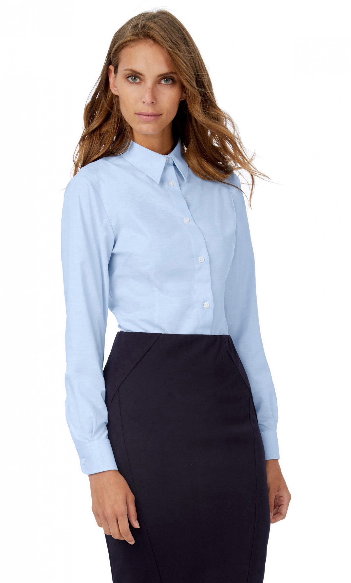 B&C: Oxford Bluse LA LSL Women SWO03