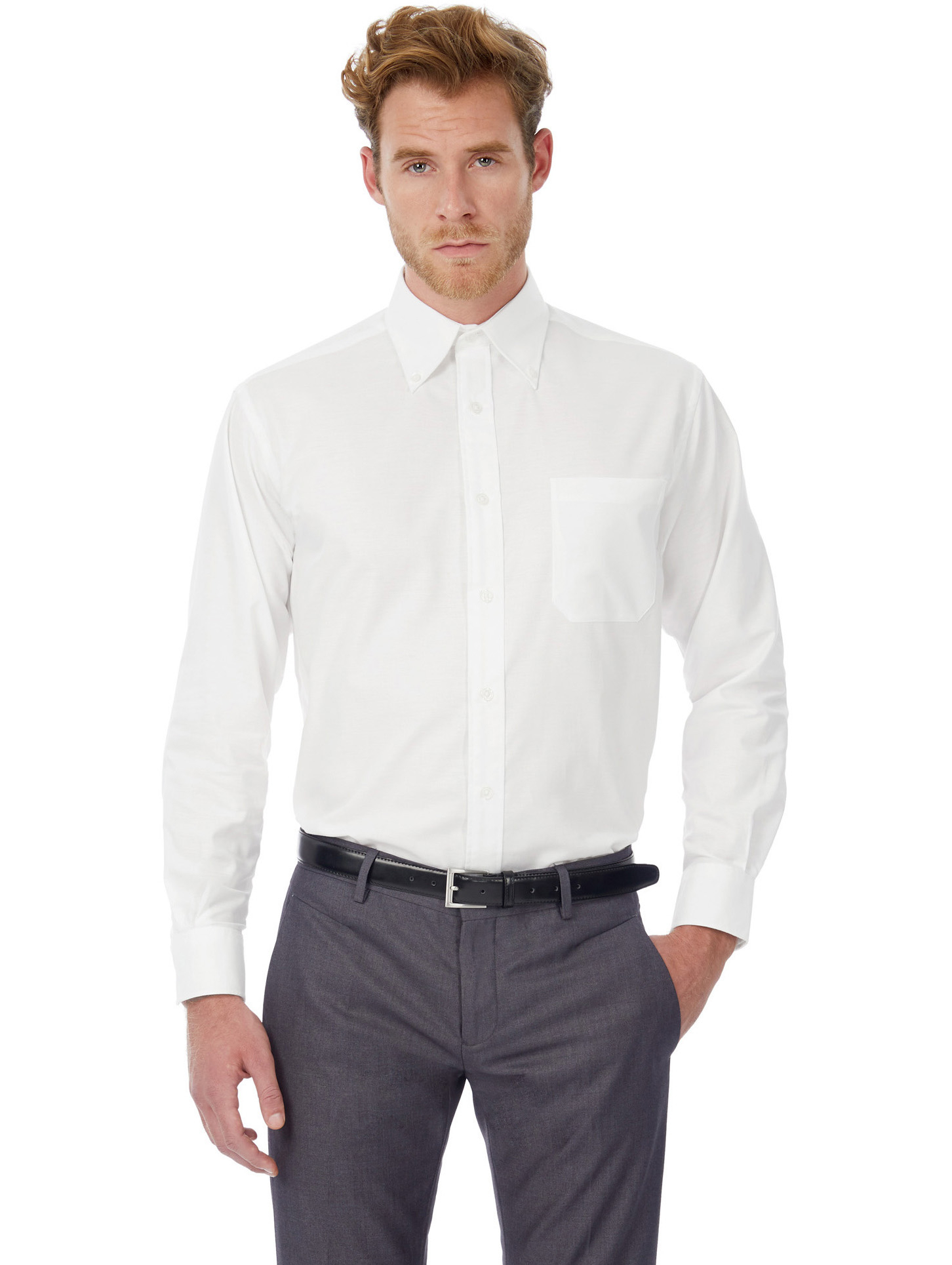 B&C: Oxford Hemd LA Oxford LSL Men SMO01