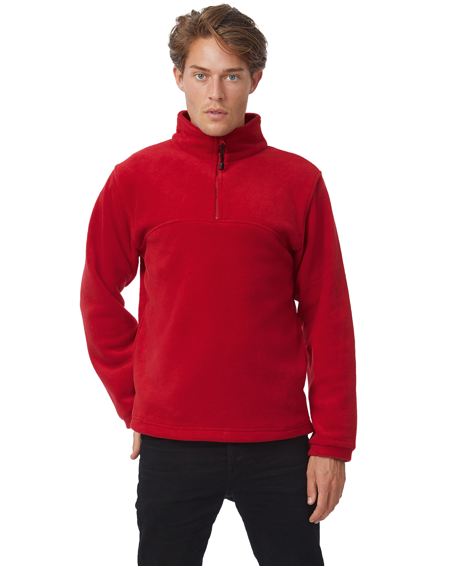 B&C: 1/4 Zip Fleece Top Highlander + FU704