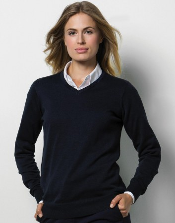Kustom Kit: Ladies` Arundel V-Neck Sweater KK353 – Bild 1