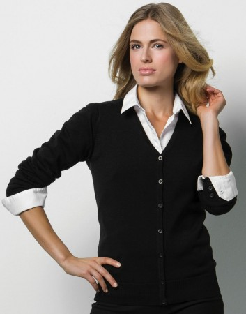 Kustom Kit: Women`s Arundel V-Neck Cardigan KK354 – Bild 1