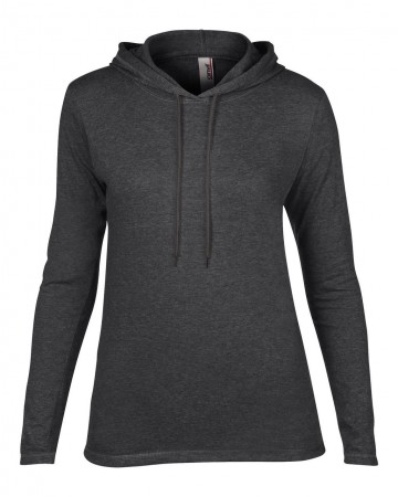 Anvil: Women`s Fashion Basic LS Hooded Tee 887L – Bild 4