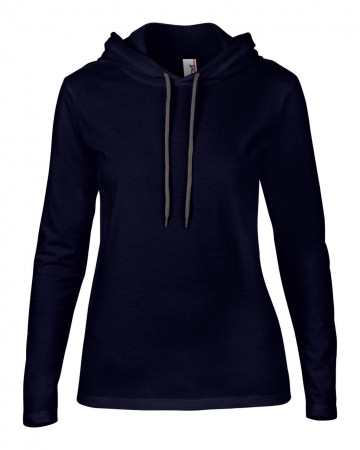 Anvil: Women`s Fashion Basic LS Hooded Tee 887L – Bild 5