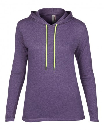 Anvil: Women`s Fashion Basic LS Hooded Tee 887L – Bild 6