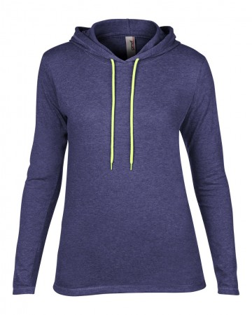 Anvil: Women`s Fashion Basic LS Hooded Tee 887L – Bild 7