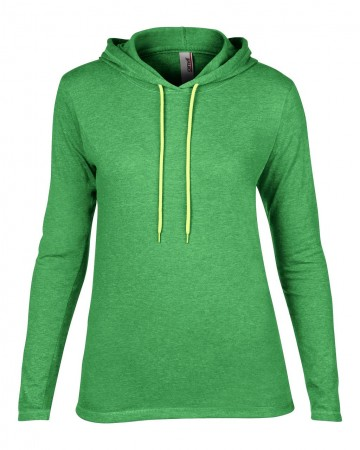 Anvil: Women`s Fashion Basic LS Hooded Tee 887L – Bild 11