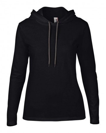 Anvil: Women`s Fashion Basic LS Hooded Tee 887L – Bild 3