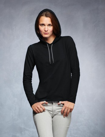 Anvil: Women`s Fashion Basic LS Hooded Tee 887L – Bild 1