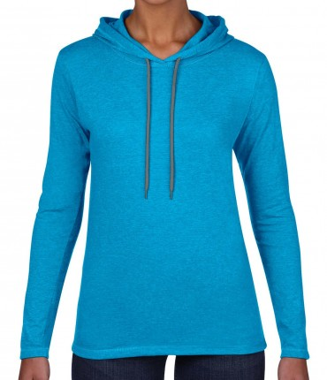 Anvil: Women`s Fashion Basic LS Hooded Tee 887L – Bild 8