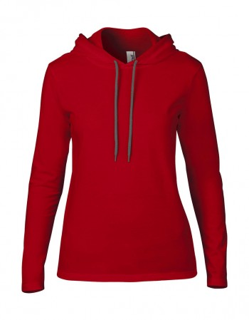 Anvil: Women`s Fashion Basic LS Hooded Tee 887L – Bild 9