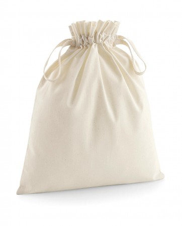 Westford Mill: Soft Cotton Drawcord Bag W118 – Bild 1