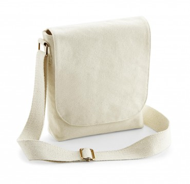 Westford Mill: FairTrade Cotton Canvas Mini Messenger W460 – Bild 2