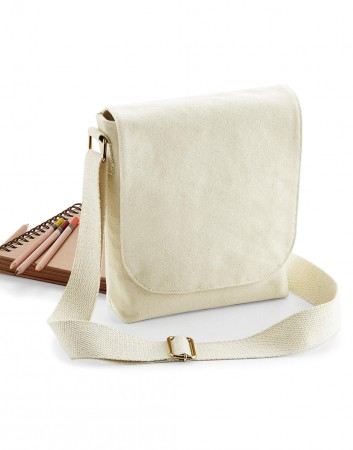 Westford Mill: FairTrade Cotton Canvas Mini Messenger W460 – Bild 1