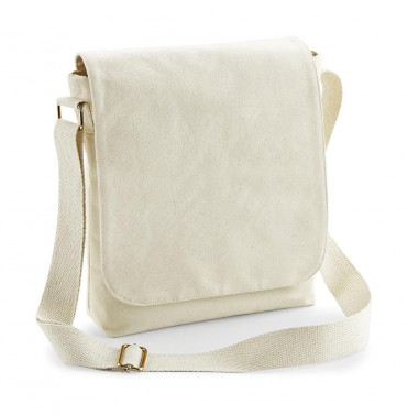 Westford Mill: FairTrade Cotton Canvas Midi Messenger W462 – Bild 2
