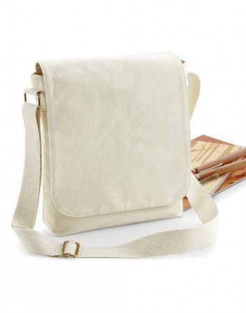 Westford Mill: FairTrade Cotton Canvas Midi Messenger W462 – Bild 1