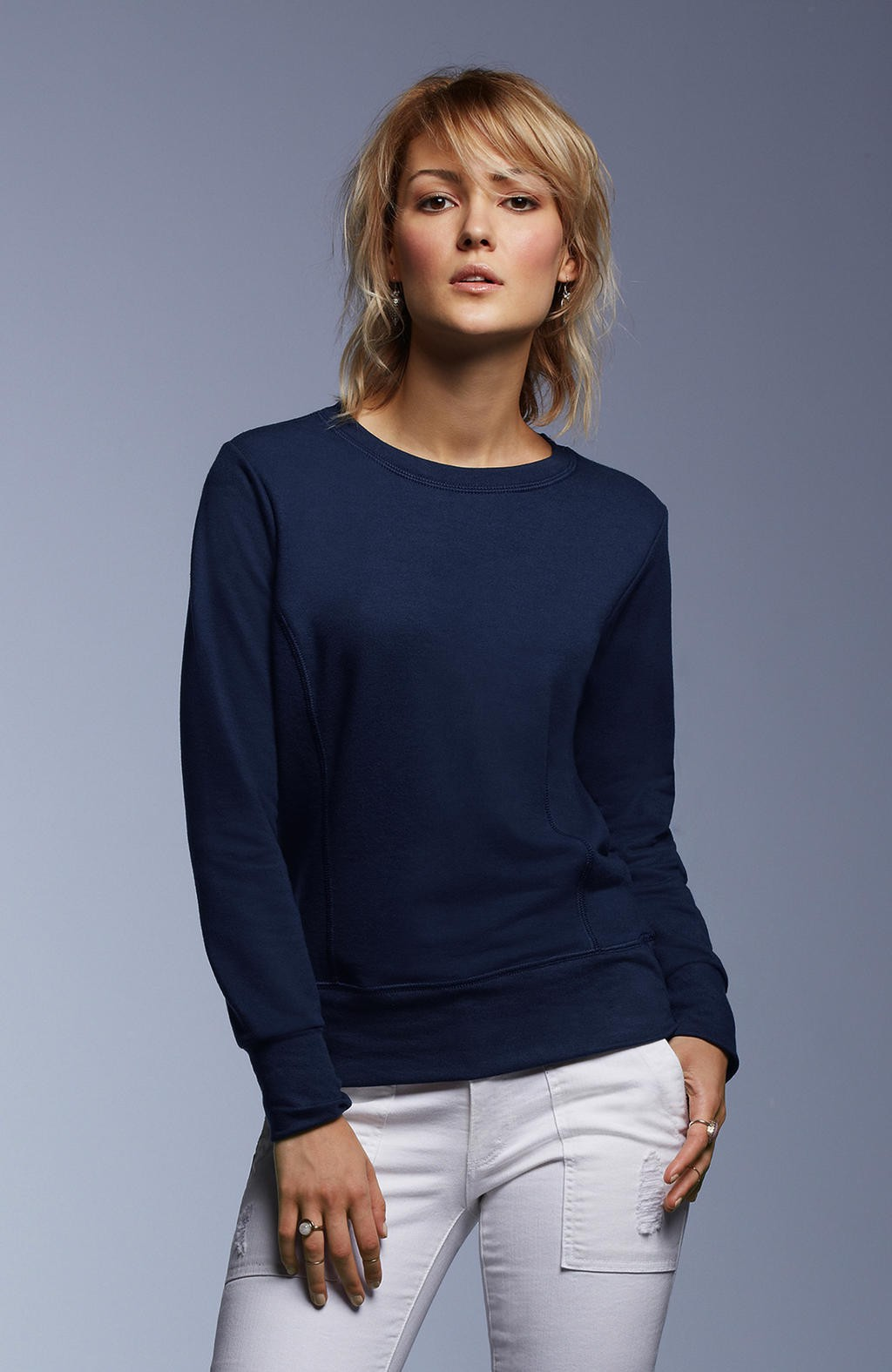 Anvil: Women`s French Terry Sweatshirt 72000L