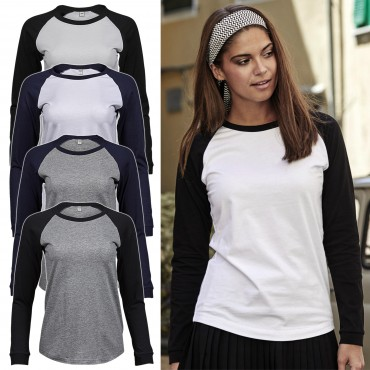 Tee Jays: Ladies Baseball Tee Long Sleeve 5073  – Bild 1