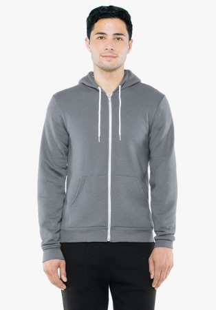 American Apparel: Unisex Flex Zip Hooded Sweat F497W  – Bild 4