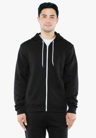 American Apparel: Unisex Flex Zip Hooded Sweat F497W  – Bild 3