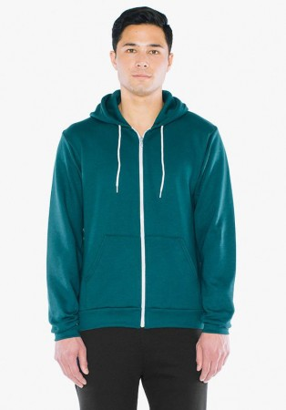 American Apparel: Unisex Flex Zip Hooded Sweat F497W  – Bild 8