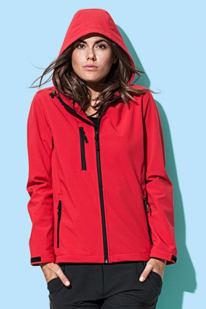 Stedman: Women`s Active Softest Shell Hooded Jacket ST5340  – Bild 1