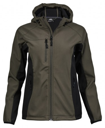 Tee Jays: Ladies Hooded Lightweight Performance Softshell 9515  – Bild 4