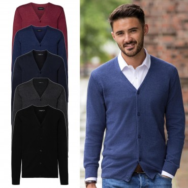 Russell Europe: Men`s V-Neck Knitted Cardigan R-715M-0  – Bild 1