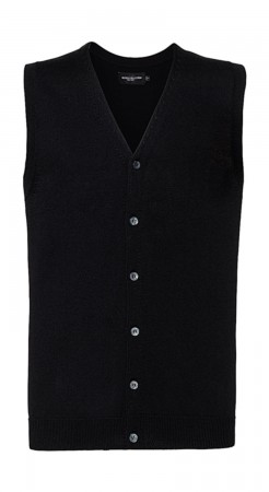 Russell Europe: Men`s V-Neck Sleeveless Knitted Cardigan R-719M-0  – Bild 2