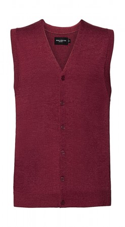 Russell Europe: Men`s V-Neck Sleeveless Knitted Cardigan R-719M-0  – Bild 6