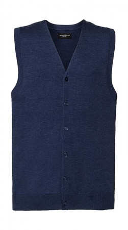 Russell Europe: Men`s V-Neck Sleeveless Knitted Cardigan R-719M-0  – Bild 5