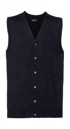 Russell Europe: Men`s V-Neck Sleeveless Knitted Cardigan R-719M-0  – Bild 4