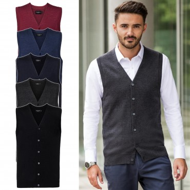Russell Europe: Men`s V-Neck Sleeveless Knitted Cardigan R-719M-0  – Bild 1