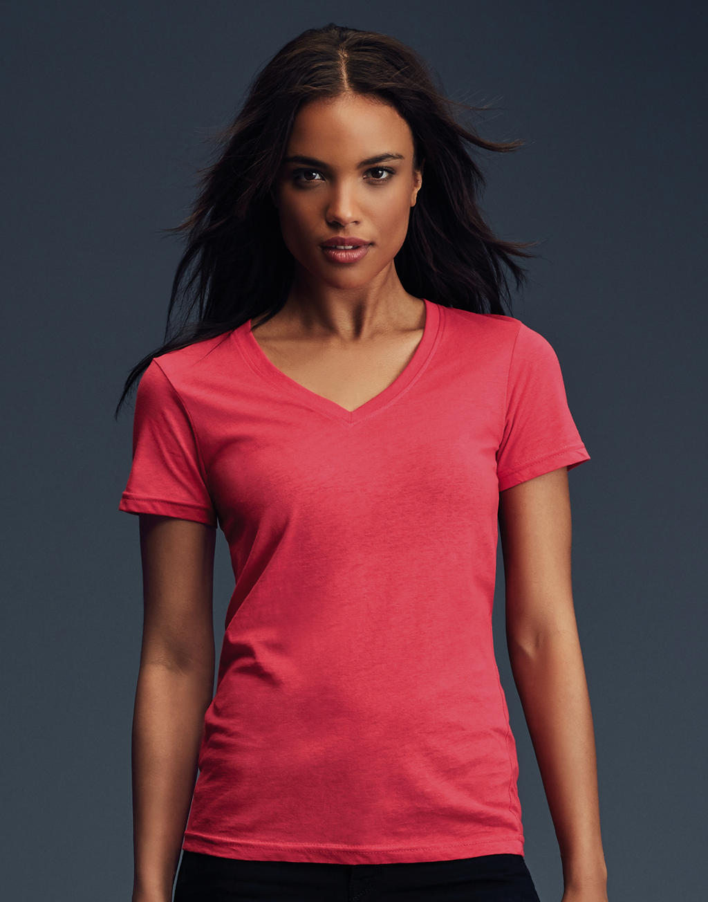 Anvil: Ladies Sheer V-Neck Tee 392