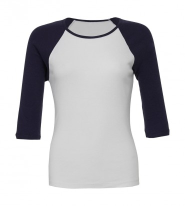 Bella+Canvas: 3/4 Sleeve Contrast Raglan T-Shirt 2000:00:00 – Bild 2