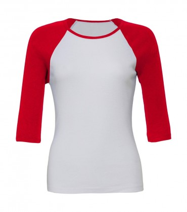Bella+Canvas: 3/4 Sleeve Contrast Raglan T-Shirt 2000:00:00 – Bild 3