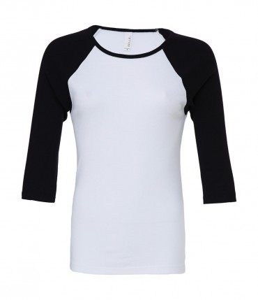 Bella+Canvas: 3/4 Sleeve Contrast Raglan T-Shirt 2000:00:00 – Bild 4