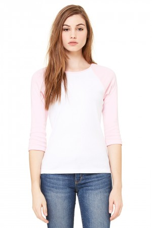 Bella+Canvas: 3/4 Sleeve Contrast Raglan T-Shirt 2000:00:00 – Bild 5