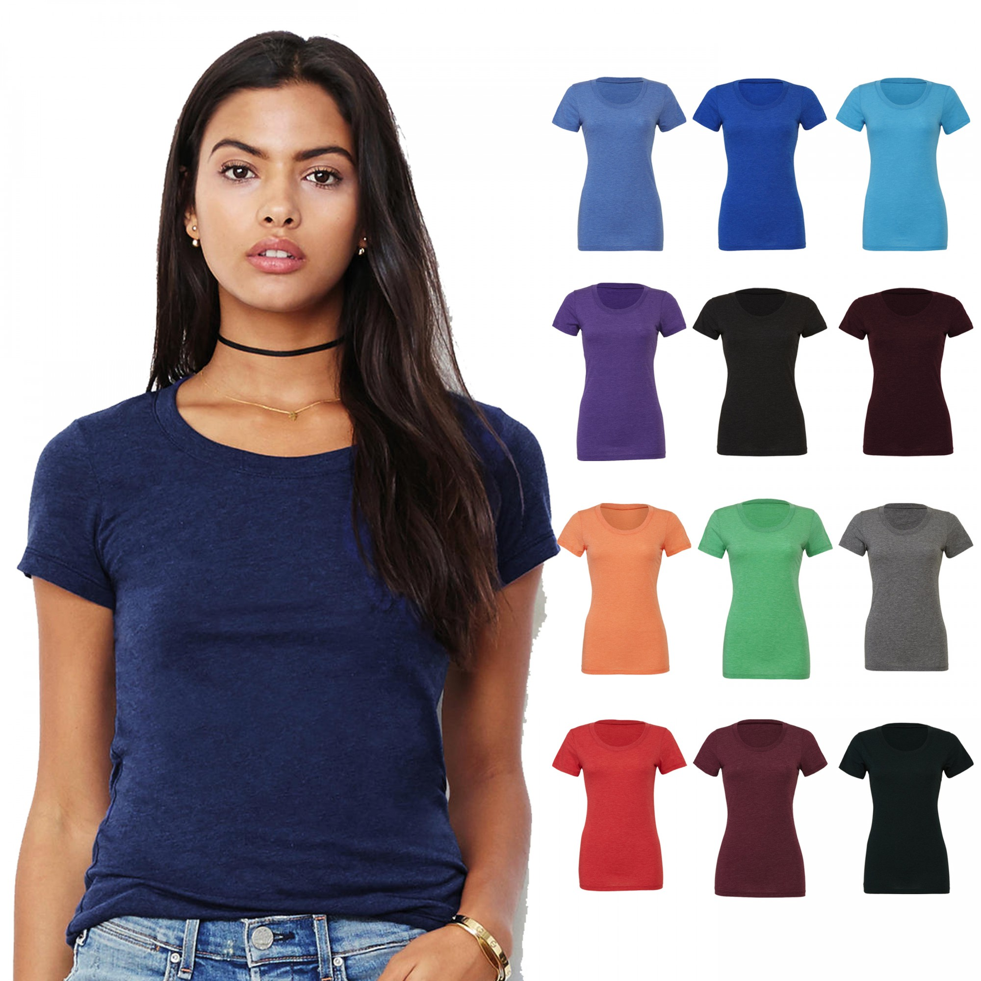 Bella+Canvas: Triblend Crew Neck T-Shirt 8413