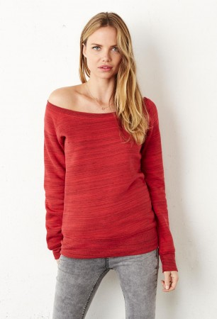Bella+Canvas: Sponge Fleece Wideneck Sweatshirt 7501 – Bild 1