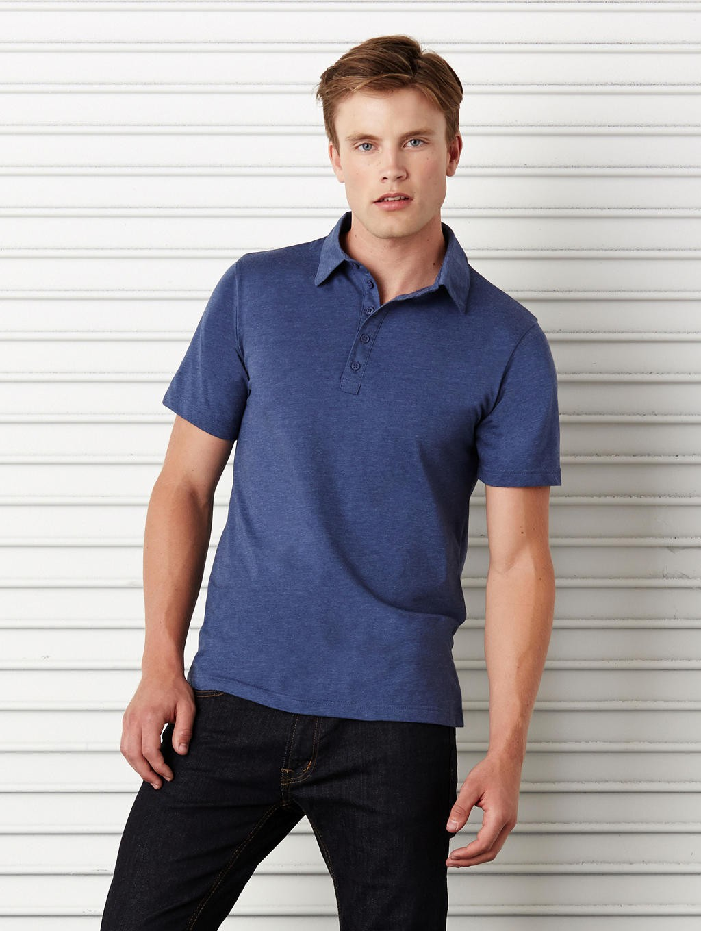 Bella+Canvas: Jersey 5 Button Polo 3802