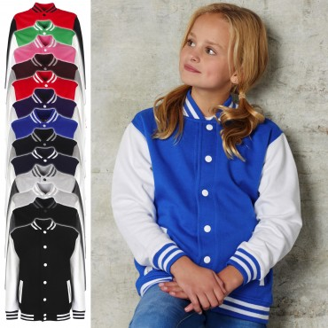 FDM: Kids` College Jacket FV002 – Bild 1
