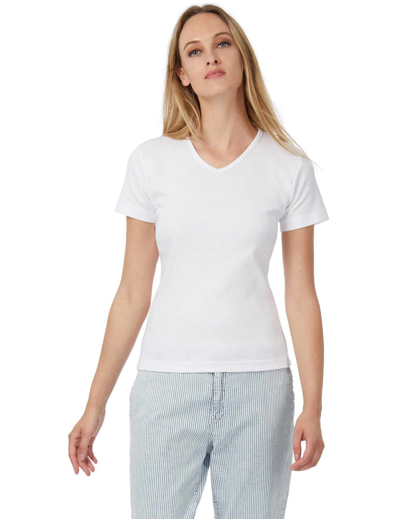 B&C: Ladies` Tee V-Neck Watch TW102